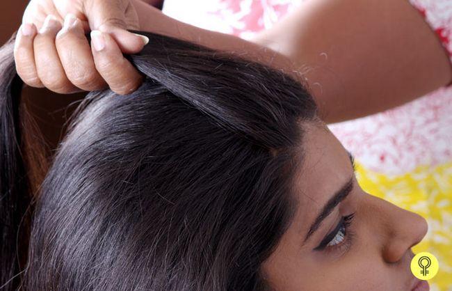 Haar nach hinten