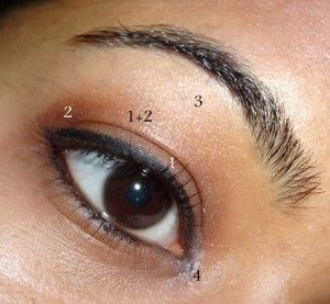 Nude Farbe auf der Augenbraue