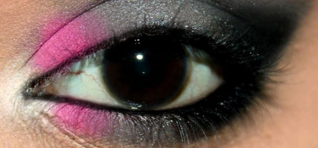 Schwül Rosa und graue Augen Make-up - Tutorial mit detaillierten Schritte und Bilder Foto