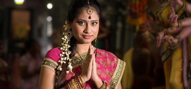 Tamilisch Braut Make-up - Schritt für Schritt Anleitung mit Bild Foto