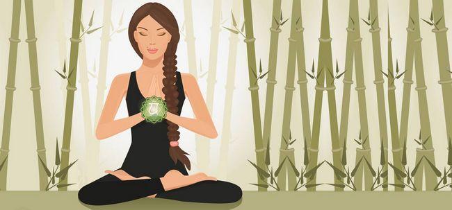 Das erstaunliche Herz-Chakra-Meditation durch Karunesh Foto