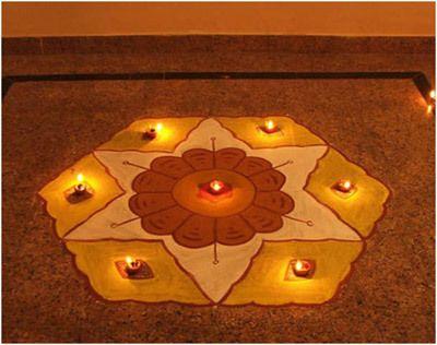 rangoli Entwürfe für Diwali einfach