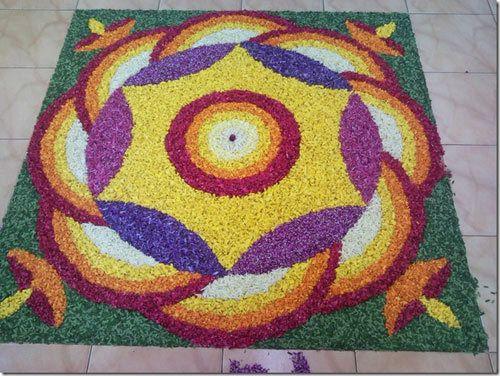 Blume rangoli Entwürfe für Diwali