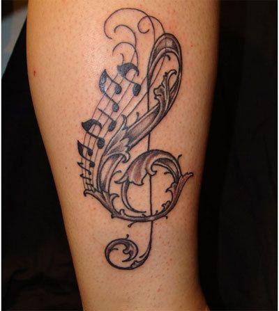 Musik Tattoo-Designs für Mädchen