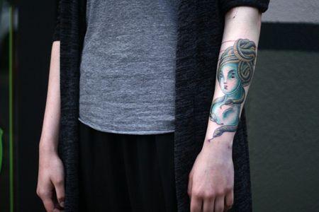Medusa-Tätowierung für den Unterarmen