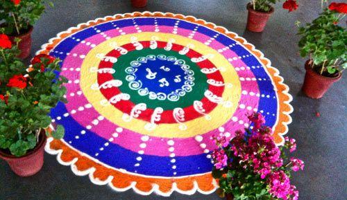Bunte Circular Rangoli Entwurf