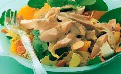 Estragon-Huhn mit Baby-Spinat
