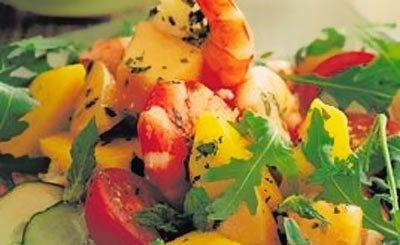 Melone und Mango-Salat