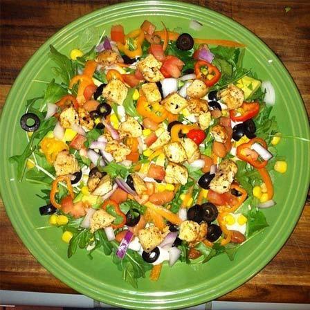 Hähnchen-Salat Low-Carb