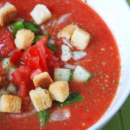 Spanien Gazpacho-Suppe