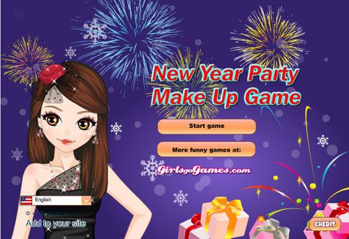 Party des neuen Jahres bilden