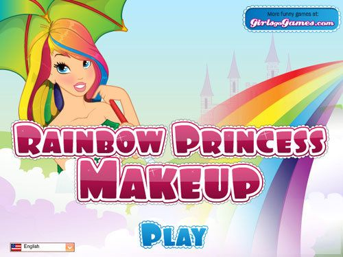 Regenbogen Prinzessin Make-up