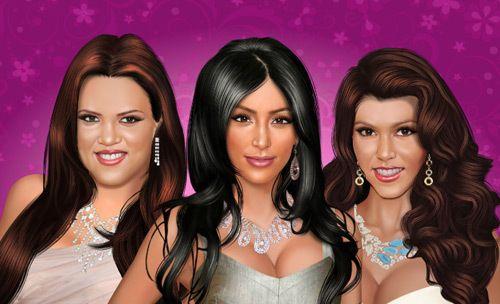 Kardashian Schwestern bilden