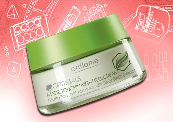 oriflame Optimals matte Touch Nacht Gel-Creme