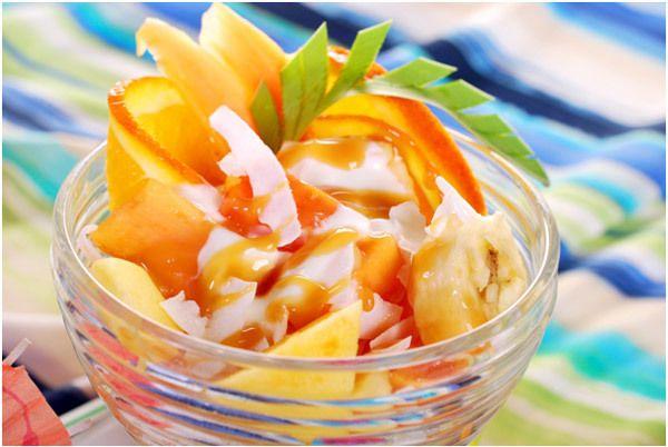 Gefrorene Ananas-Salat