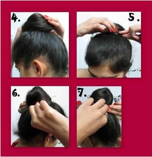 Top-Knoten Frisur, wie man