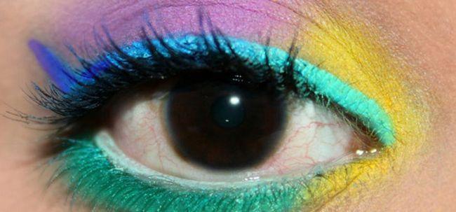 Tropical Augen Make-up - Tutorial mit detaillierten Schritte und Bilder Foto