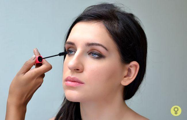 runden das Augen Make-up