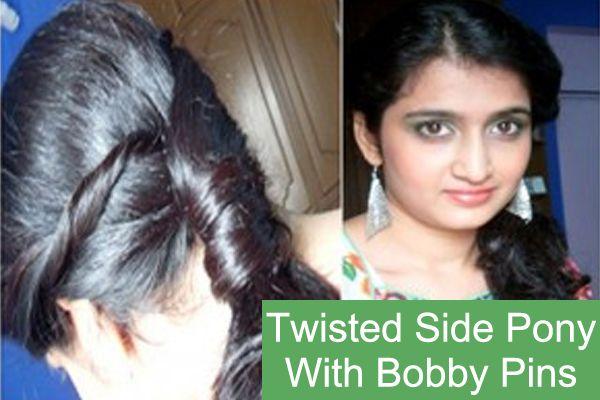 Twisted-Side Pony mit Bobby Pins Tutorial - mit detaillierten Steps & Bilder Foto