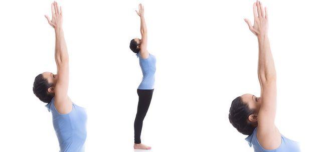 Urdhva Hastasana / Upward Salute Pose / Arme hoch Stretch Pose - How To Do und was sind die Vorteile? Foto