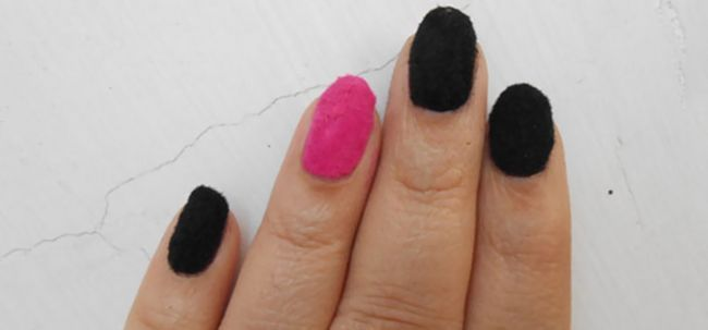 Velvet Nail Art Tutorial Foto