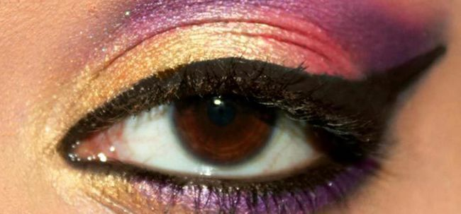 Vibrant Bollywood inspiriert Augen Make-up - Schritt für Schritt Anleitung mit Bildern Foto