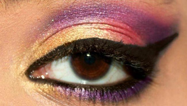 Vibrant Bollywood inspiriert Augen Make-up-Blick