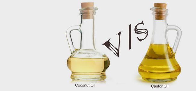 Was sind die Unterschiede zwischen Castor Öl und Kokosöl? Foto