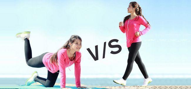 Was sind die Unterschiede zwischen Yoga und Walking? Foto
