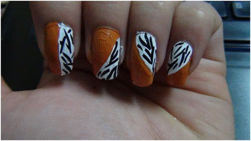 Zebradruck Nageldesign