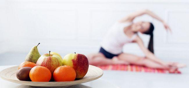 Yoga Ernährung und Poses für Weight Loss Foto