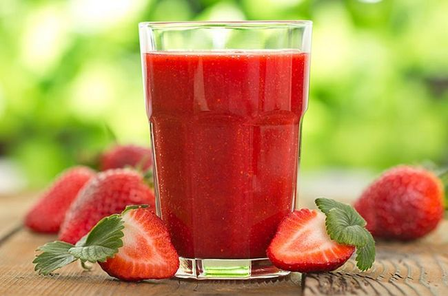 Erdbeer Sorbet Smoothie